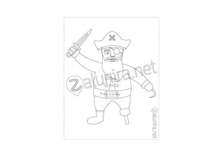 Ausmalbilder zum Ausdrucken - Der piratenrat